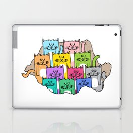 Meow-mania, the land of cats Laptop & iPad Skin