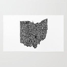 Typographic Ohio Rug