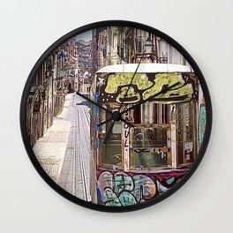Graffiti Cable Car Wall Clock