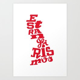 Estrangeirismos UK Art Print