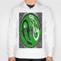 ying yang Hoodies featuring ying yang by Nerd Artist DM