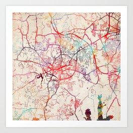 Chapel Hill map North Carolina NC Art Print