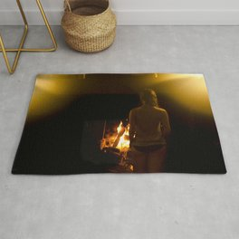 Jouer aver le feu // Playing with Fire Rug