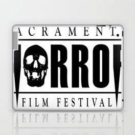 Sacramento Horror Film Festival Black Logo Laptop & iPad Skin