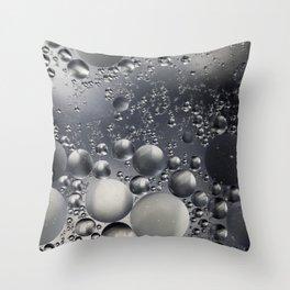 Crazy silver/grey bubbles Throw Pillow