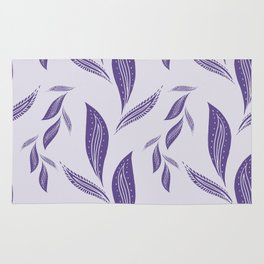 Ultraviolet Foliage #society6 #pattern #ultraviolet Rug