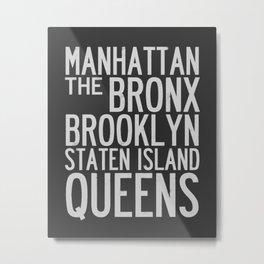 NYC Typography Design Metal Print