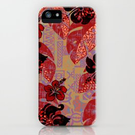 On Fire Kona Tropical Floral iPhone Case