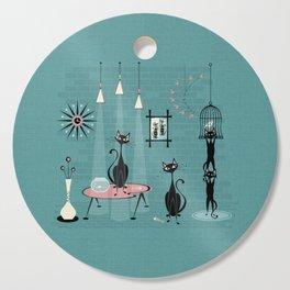 Mid Century Kitty Mischief - ©studioxtine Cutting Board