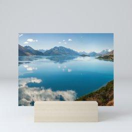 Breathtaking View of Lake Wakatipu in New Zealand Mini Art Print
