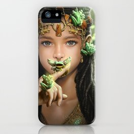 The princess and the frogs iPhone Case