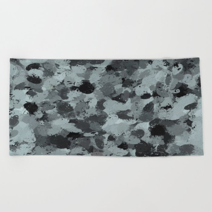 Black and Smokey Blue Pastels 3216 Beach Towel