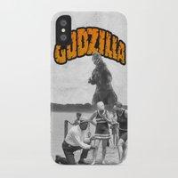 godzilla iPhone & iPod Cases featuring godzilla  by sr casetin