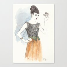 'Mary' Watercolor Fashion Illustration Canvas Print