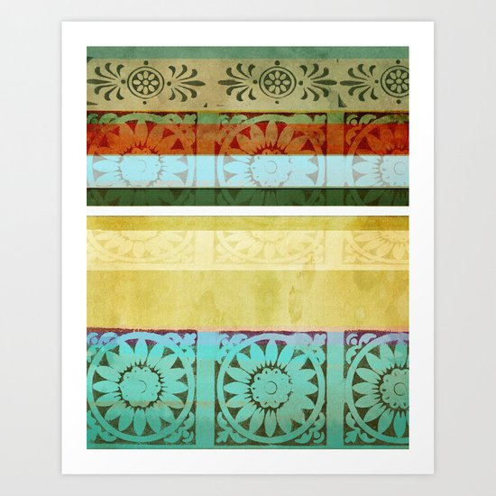 Textile - Green Art Print