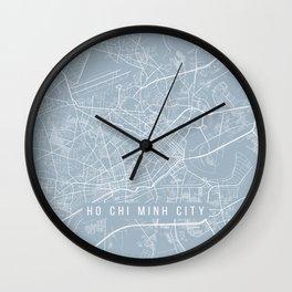 Ho Chi Minh City Map, Vietnam - Slate Wall Clock