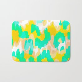 Sara - bright turquoise, green, blue abstract art Bath Mat