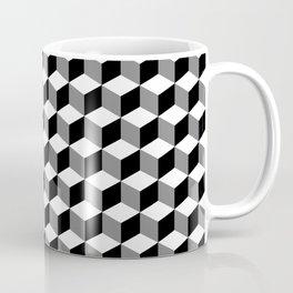 Cube Pattern Black White Grey Coffee Mug