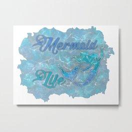 Mermaid Life 3D Digital Art Metal Print