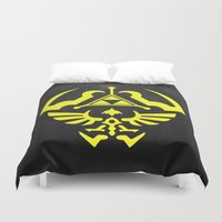 hyrule Duvet Covers featuring Hyrule Shield  by WaXaVeJu