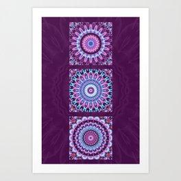 Mandala Collage violett Art Print