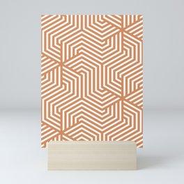 Raw Sienna - pink - Minimal Vector Seamless Pattern Mini Art Print