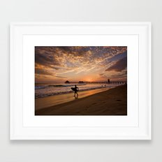 Surf City Sunsets   9/10/15   Huntington Beach California  Framed Art Print