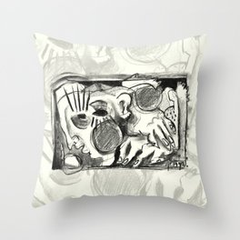 The Shaping of a Man Throw Pillow