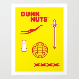 DUNK NUTS Art Print