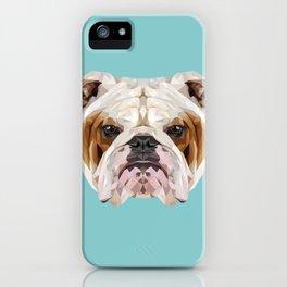 English Bulldog // Blue  iPhone Case