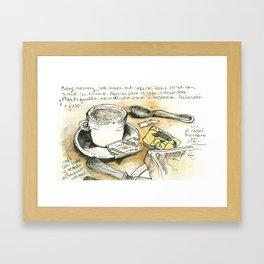 Camino de Santiago - desayuno tipico Framed Art Print