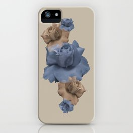 Glitch Roses Gold iPhone Case