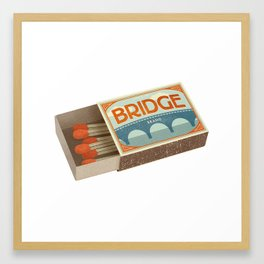 Burning Bridges Framed Art Print