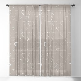 Made for you my heart 19 Sheer Curtain