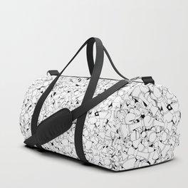 Chess Pattern WHITE Duffle Bag