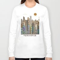 vancouver Long Sleeve T-shirts featuring Vancouver skyline by bri.buckley