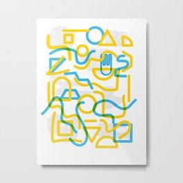 Shapes and Stuff Metal Print
