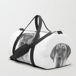 Black and White Great Dane Duffle Bag