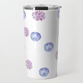 crying moon with purple lilac Travel Mug