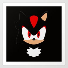Shadow the Hedgehog Art Print