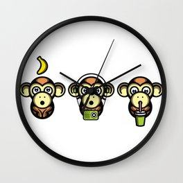 Wiser Monkeys Wall Clock