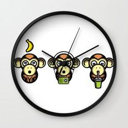 Wiser Monkeys Wall Clock