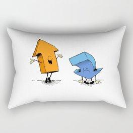 up n down show (alternate version) Rectangular Pillow