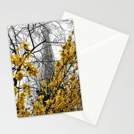 Eiffel Tower yellow flowers Stationery Cards
