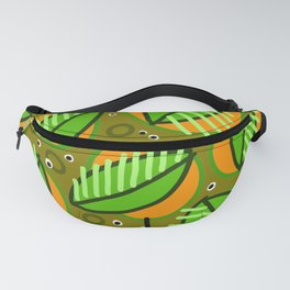 Abstract leaf pattern Fanny Pack
