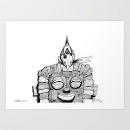 '恐怖核心與小鳥 Scarecore and Bird' Cover Illustration 2 Art Print
