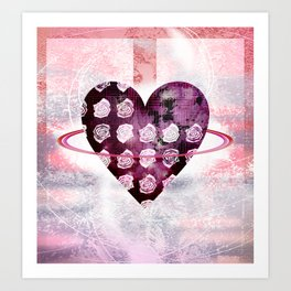 Rosy planet Art Print