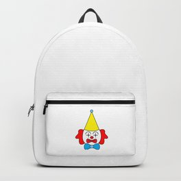 Clown - funny face. Backpack