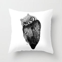 Scops Owl  Throw Pillow