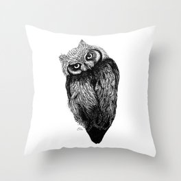 Scops Owl  Throw Pillow